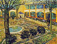 The Courtyard of the Hospital in Arles, 1889, vangogh