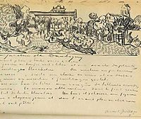 Daubigny-s Garden with Black Cat, 1890, vangogh