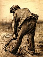 Digger in a Potato Field: February, 1885, vangogh