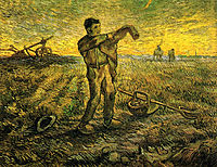 Evening - The End of the Day (after Millet) , 1889, vangogh