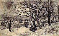 Figures in a Park, 1886, vangogh
