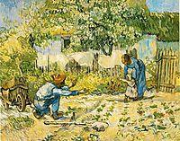 The first steps, 1890, vangogh