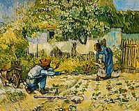 First Steps (after Millet), 1890, vangogh
