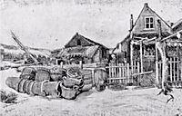The fish drying barn at Scheveningen, c.1882, vangogh