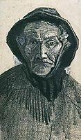 Fisherman with Sou-wester, head, 1883, vangogh