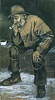 Fisherman with Sou-wester, Sitting with Pipe, 1883, vangogh