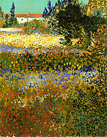 Flowering Garden, 1888, vangogh