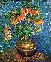 Fritillaries in a Copper Vase, 1887, vangogh
