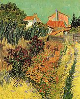 Garden Behind a House, 1888, vangogh