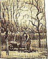 Gardener with a Wheelbarrow, 1884, vangogh