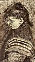 Girl with Shawl, Half-Figure, 1883, vangogh