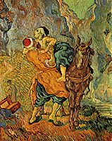 The Good Samaritan, after Delacroix, 1890, vangogh