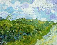Green Wheat Fields , 1890, vangogh