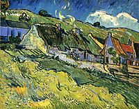 A Group of Cottages, 1890, vangogh