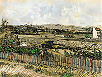 Harvest in Provence, at the Left Montmajour , 1888, vangogh