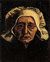 Head of an Old Peasant Woman with White Cap, 1884, vangogh