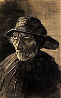 Head of a Fisherman with a Sou-wester, 1883, vangogh