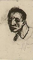 Head of a Man, Bareheaded, 1885, vangogh