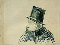 Head of a Man with a Top Hat, 1887, vangogh