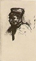 Head of a Peasant with Cap, vangogh