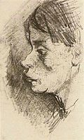 Head of a Peasant Woman, Bareheaded, vangogh