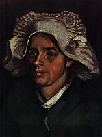 Head of a Peasant Woman with White Cap, 1885, vangogh