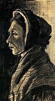 Head of a Woman, 1883, vangogh