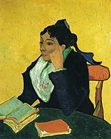 L-Arlesienne, Portrait of Madame Ginoux , 1888, vangogh