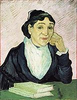L-Arlesienne, Portrait of Madame Ginoux , 1890, vangogh