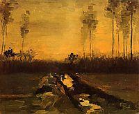 Landscape at Dusk, 1885, vangogh