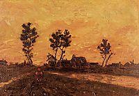 Landscape at Sunset, 1885, vangogh