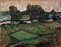 Landscape with Bridge across the Oise, 1890, vangogh