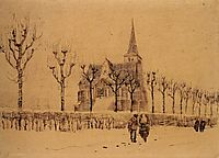 Landscape with a Church, 1883, vangogh