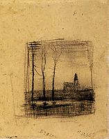 Landscape with a Church, 1883, vangogh