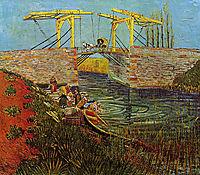 The Langlois Bridge at Arles, 1888, vangogh