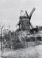 Le Moulin de la Galette , 1886, vangogh