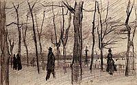 Luxembourg Garden in Paris, c.1887, vangogh