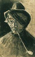 Man with Pipe and Eye Bandage, 1882, vangogh