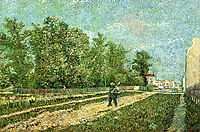 Man with Spade in a Suburb of Paris , 1887, vangogh