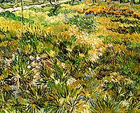 Meadow in the Garden of Saint-Paul Hospital , 1890, vangogh