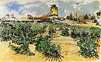 The Mill of Alphonse Daudet at Fontevieille , 1888, vangogh