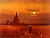The Old Tower in the Fields , 1884, vangogh