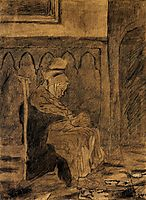 Old Woman Asleep after Rops, 1873, vangogh