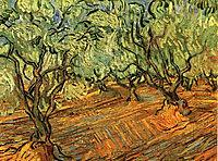 Olive Grove - Bright Blue Sky , 1889, vangogh