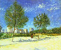 On the Outskirts of Paris, 1887, vangogh
