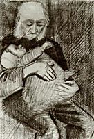 Orphan Man with a Baby in his Arms, 1883, vangogh