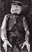 Orphan Man with Cap, Half-Length, 1883, vangogh