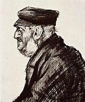 Orphan Man with Cap, Head, 1883, vangogh