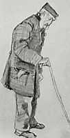 Orphan Man with Cap and Walking Stick, 1882, vangogh