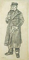 Orphan Man with Long Overcoat, Glass and Handkerchief, 1882, vangogh